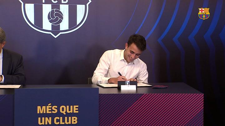 Eric García firma su nuevo contrato con el FC Barcelona