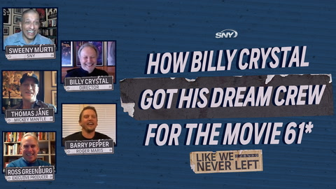 Long-time Yankees fan Billy Crystal called in favors to get a special crew for the movie '61*'