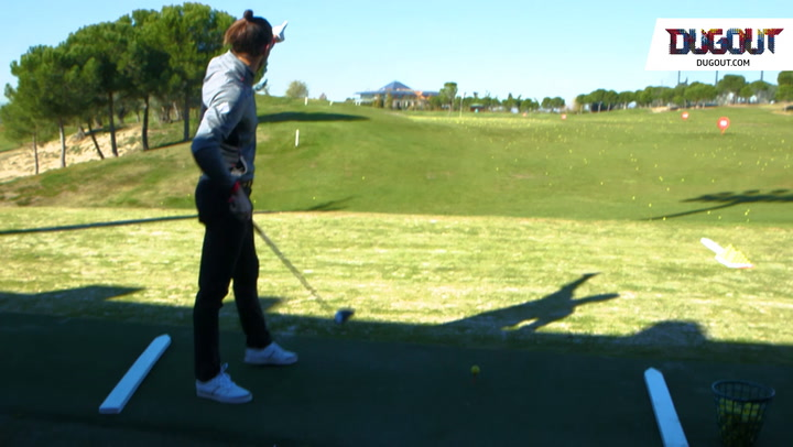 Bale's One-Handed Golf Drive Off The Tee