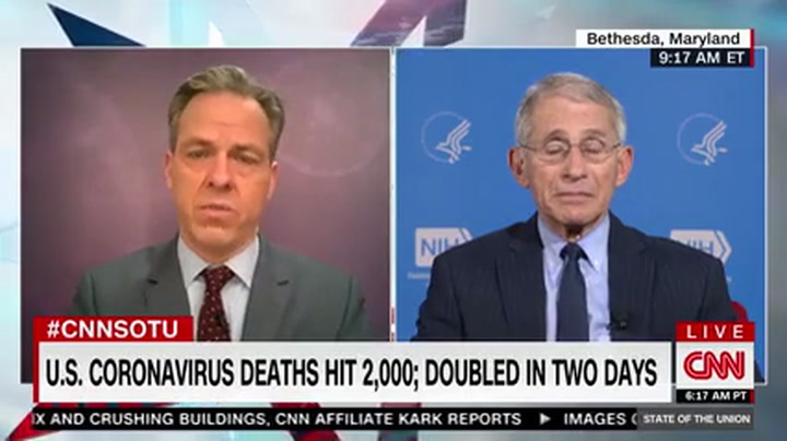 Fauci: US Could Have Between 100,000 and 200,000 Deaths from Coronavirus