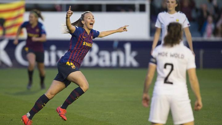 El resumen del FC Barcelona - LKS Kvinner de la Liga de Campeones Femenina