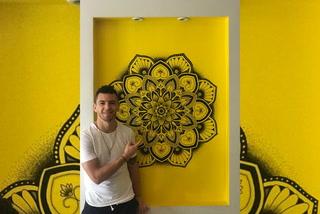 Matías Garrido, volante de Olimpia, aprovecha cuarentena para pintar en su casa