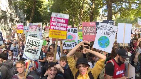 Juventud mundial se moviliza en masa contra el cambio climático