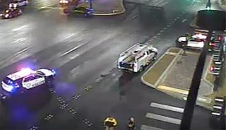 Pedestrian hit by taxi in Las Vegas