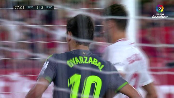 LaLiga: Sevilla-Real Sociedad. Gol de Oyarzabal (5-2)