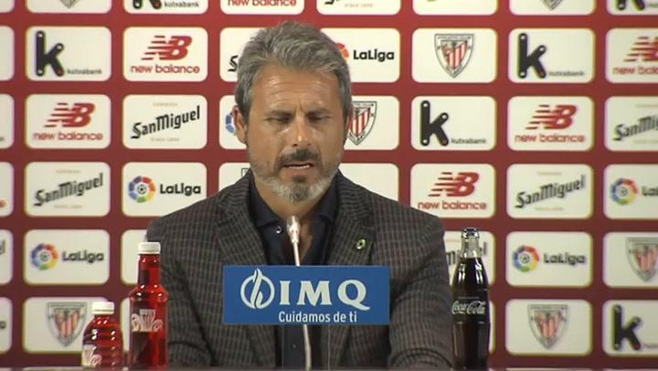 La rueda de prensa de Rafa Alkorta, director deportivo del Athletic Club