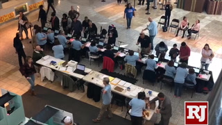 Long lines in 2018 Nevada election in Las Vegas