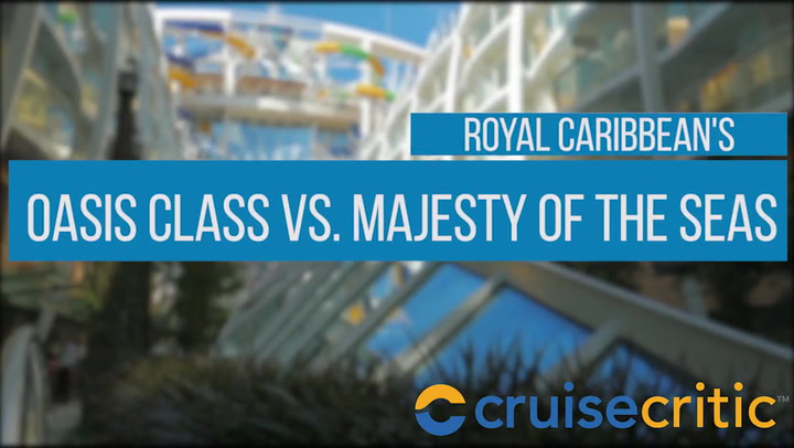 What's Your Size? Royal Caribbean's Oasis Class Vs. Majesty Of The Seas - Video