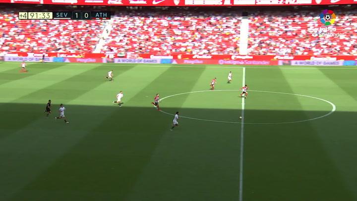 LaLiga: Sevilla - Athletic Club. Gol de Munir en el minuto 92 (2-0)