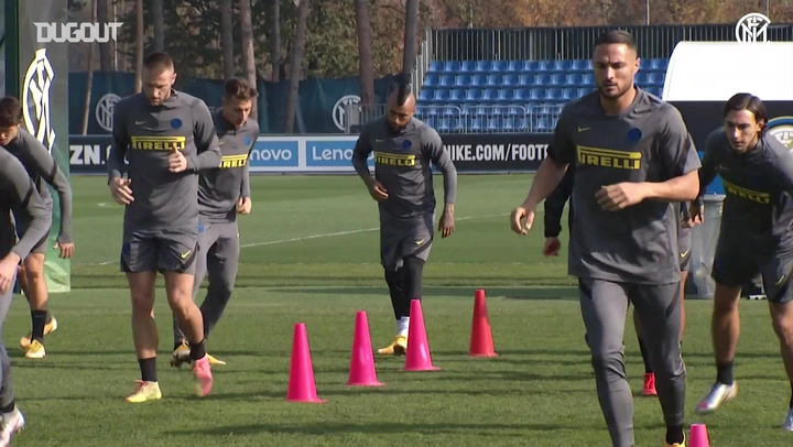 Inter train ahead of Real Madrid clash