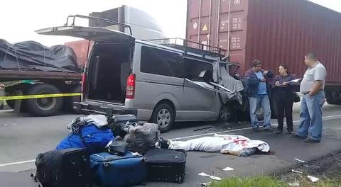 Accidente deja cuatro muertos y cuatro heridos en carretera al norte