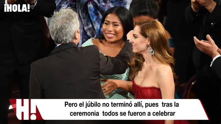 Al ritmo de 'Juanga', así celebró Yalitza tras los Oscar