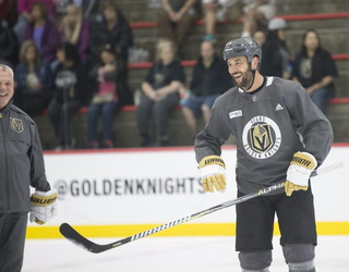 Golden Knights' Deryk Engelland Shares Advice with Rookies – Video