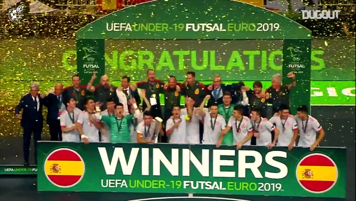 Best moments from Spain's victory in the 2019 UEFA Under-19 Futsal Championship