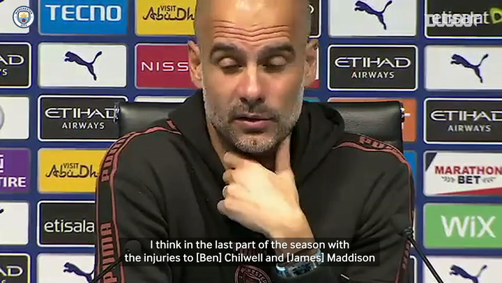 Pep: 'We have academy players there for us to use'
