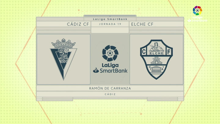 LaLiga SmartBank (J19): Resumen y goles del Cádiz 0-0 Elche