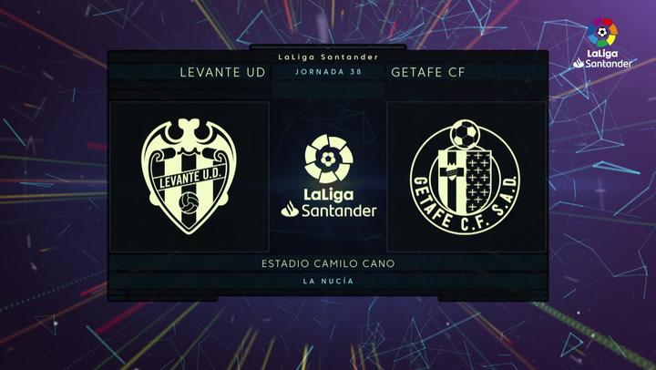 LaLiga (J38): Resumen y gol del Levante 1-0 Getafe