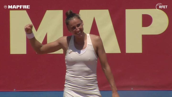 Sara Sorribes firma el doblete en la Liga Mapfre y en casa