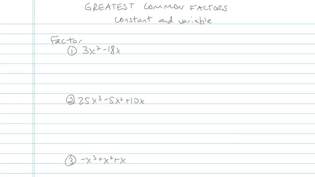 Greatest Common Factors - Problem 6