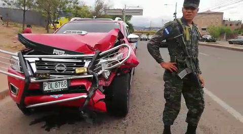 Se registra accidente automovilístico en el Anillo Periférico de Tegucigalpa