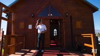 Jim Marsh brings historic replica of rural church to Amargosa Valley