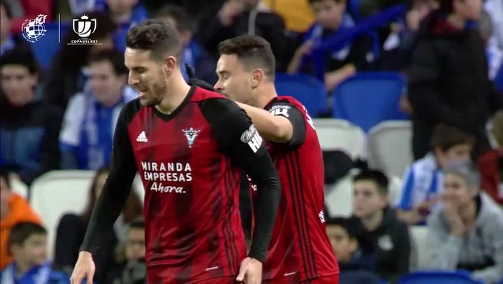 Copa del Rey: Real Sociedad-Mirandés. Gol de Matheus Ama 1-1