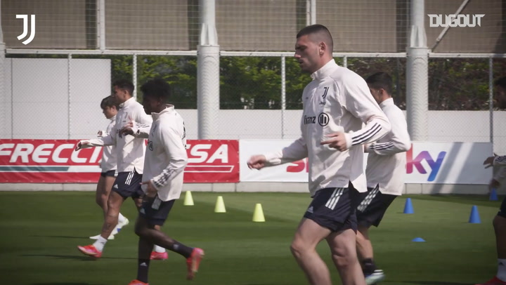 Juventus' back in training ahead of Atalanta clash
