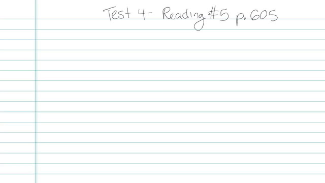 Test 4 - Reading - Question 5