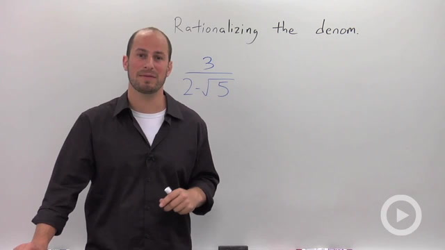 Rationalizing a Denominator with a Binomial - Problem 1