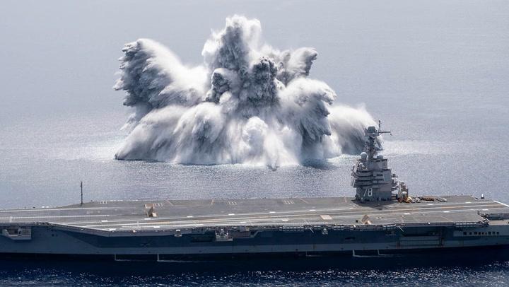 บึมสนั่นกลางทะเล นาทีสหรัฐฯ ทดสอบความแกร่งเรือรบ