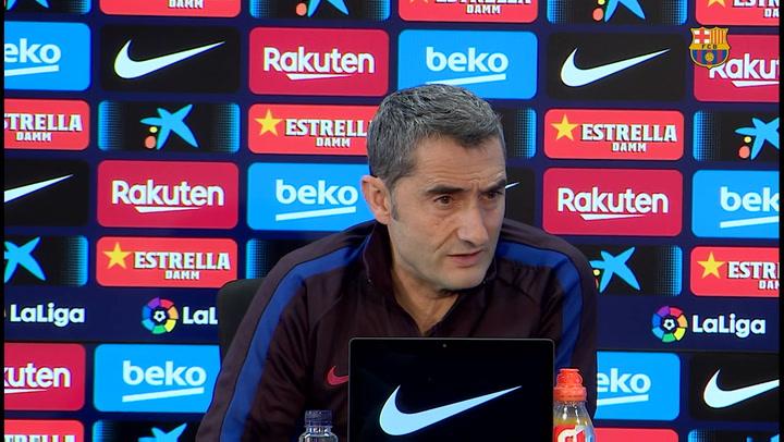 Ernesto Valverde habla sobre el partido de Liga ante la Real Sociedad