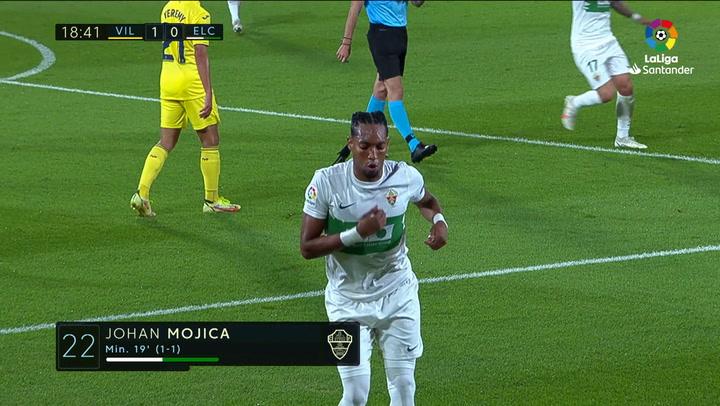 Gol de Mojica (1-1) en el Villarreal 4-1 Elche