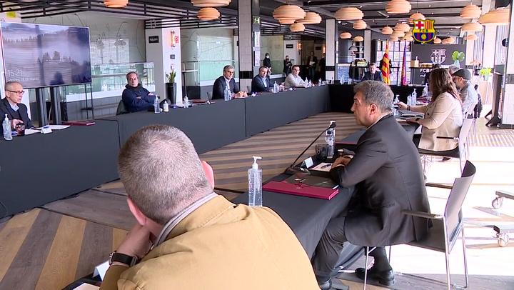 Primera reunión de la junta directiva del FC Barcelona