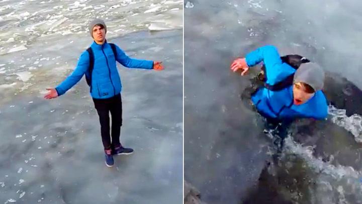 Russer på tynn is
