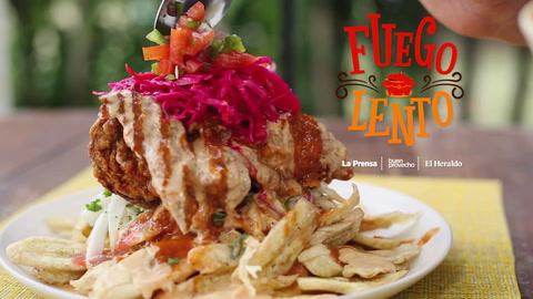 Pollo con tajadas, una delicia típica hondureña