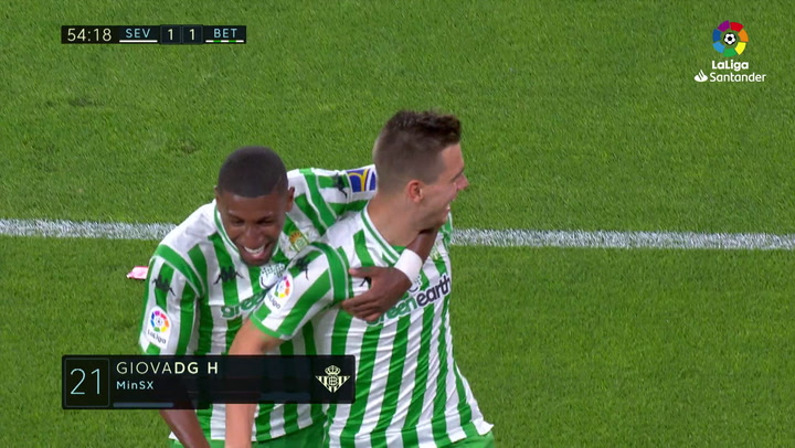 LaLiga: Sevilla-Betis. Gol de Lo Celso (1-1)