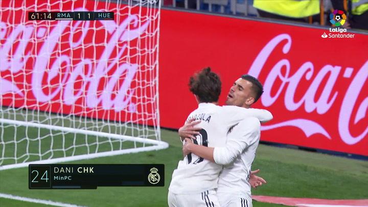 LaLiga: Real Madrid - Huesca. Gol de Dani Ceballos en el minuto 62 (2-1)