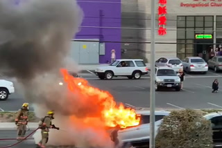 Fiery accident in Las Vegas
