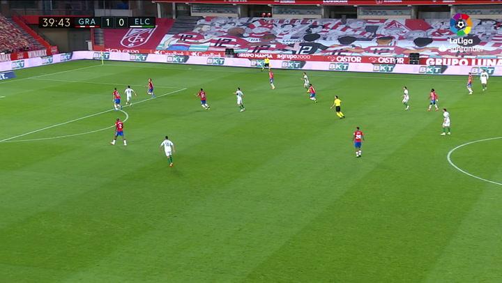 Gol de Lucas Boyé (1-1) en el Granada 2-1 Elche