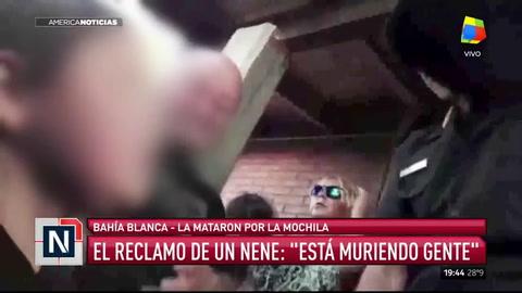 El reclamo de un nene a un policía: Está muriendo gente