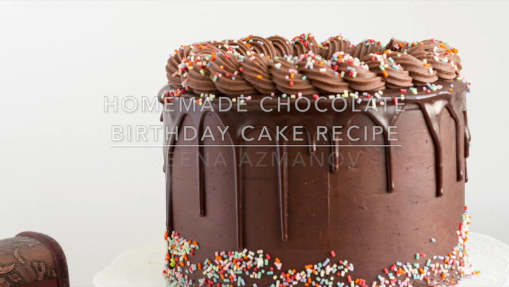 Homemade Chocolate Birthday Cake Recipe Veena Azmanov