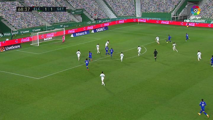 Gol de Jaime Mata (1-2) en el Elche 1-3 Getafe