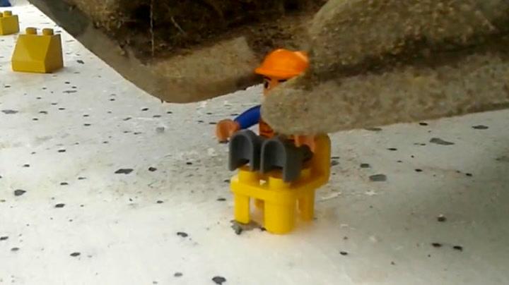 Bygge Lego med gravemaskin? Ikke noe problem!