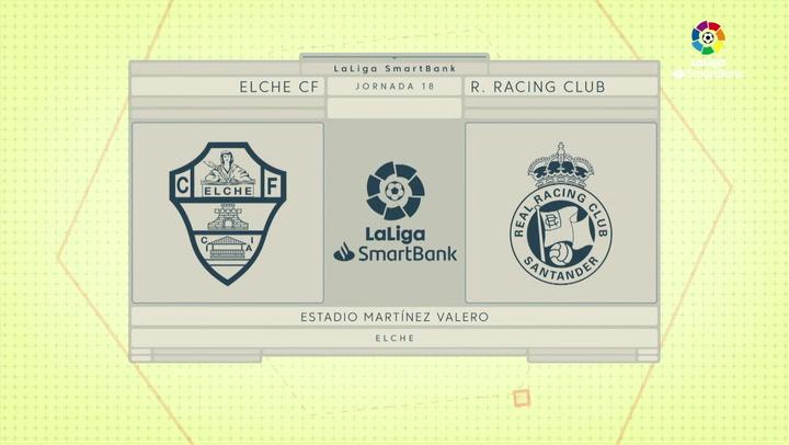 LaLiga SmartBank (J18): Resumen y goles del Elche 2-0 Racing