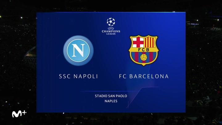 Champions League: Nápoles-Barça (1-1)