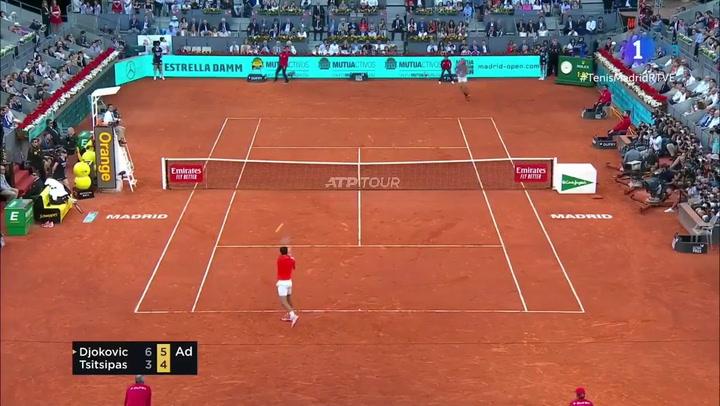 Así fue el punto ganador de Djokovic ante Tsitsipas en Madrid