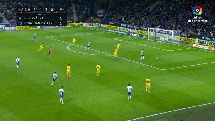 Gol de Wu Lei (2-2) en el Espanyol 2-2 Barcelona