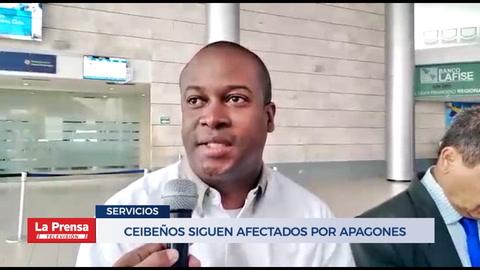 Ceibeños siguen afectados por apagones