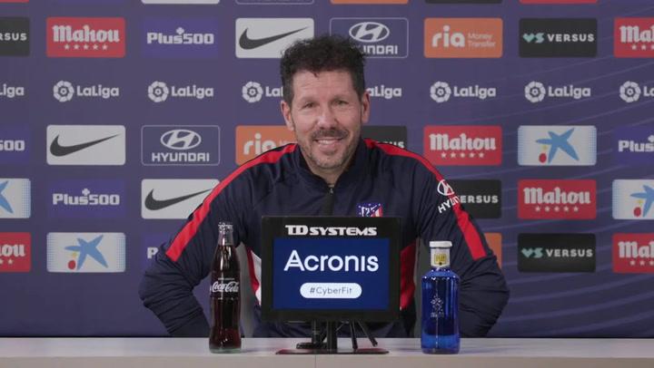 """Simeone: """"Lo que me genera optimismo es que seguimos un plan, salga bien o mal"""""""