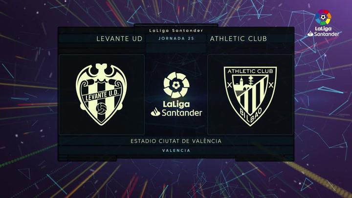 LaLiga Santander (Jornada 25): Levante 1-1 Athletic